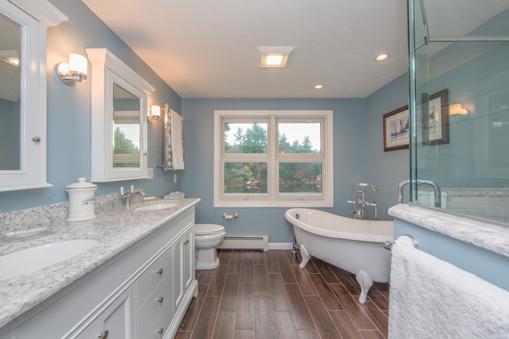 Spa like bathroom remodel redesign bedford nh for Bath remodel nh