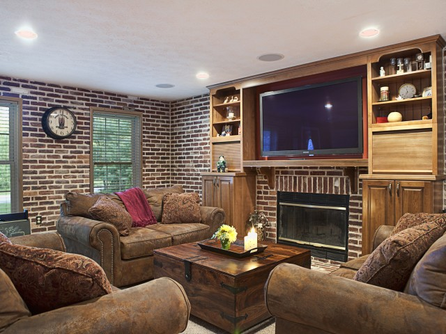 Living Room Mill Building Style Design Remodel, Litchfield NH