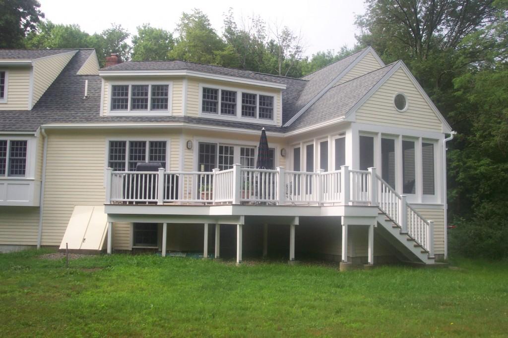 White Railing on Porch Addition