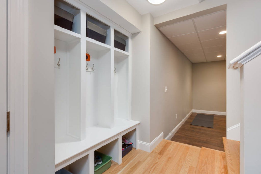 Basement Locker Style Cubbies