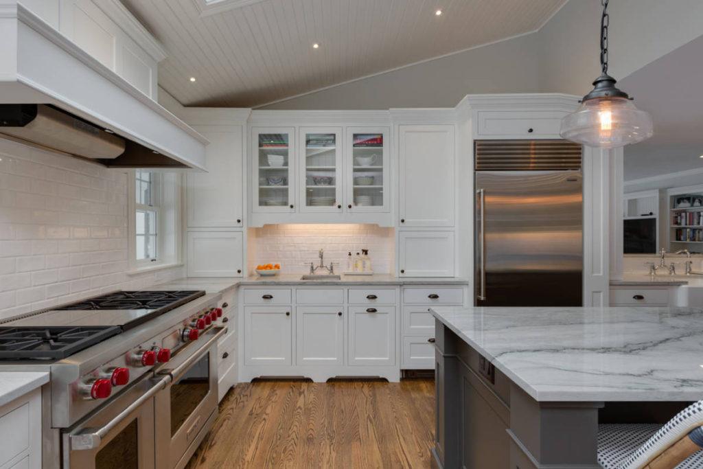 White Kitchen Close Up