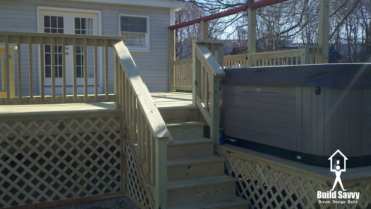 Bare wood Padfield deck