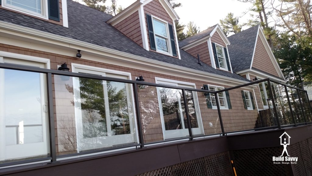 Hiatt Deck Porch with Glass Insets on the Railing