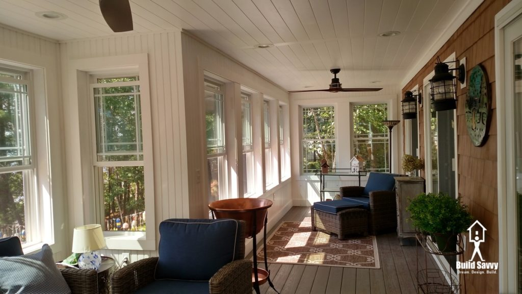 Overview of the entire Hiatt Porch with Furnishings