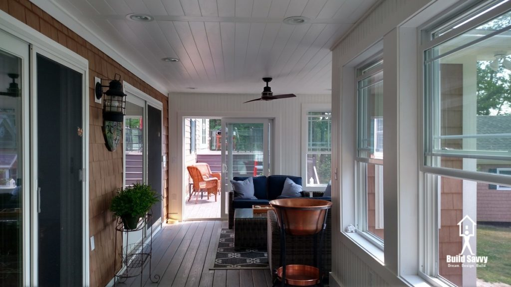 Completed Interior of the Hiatt Porch with Furnishings